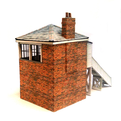 image regarding Free Printable Model Railway Buildings identified as RAIL01 - Cost-free Indicator Box